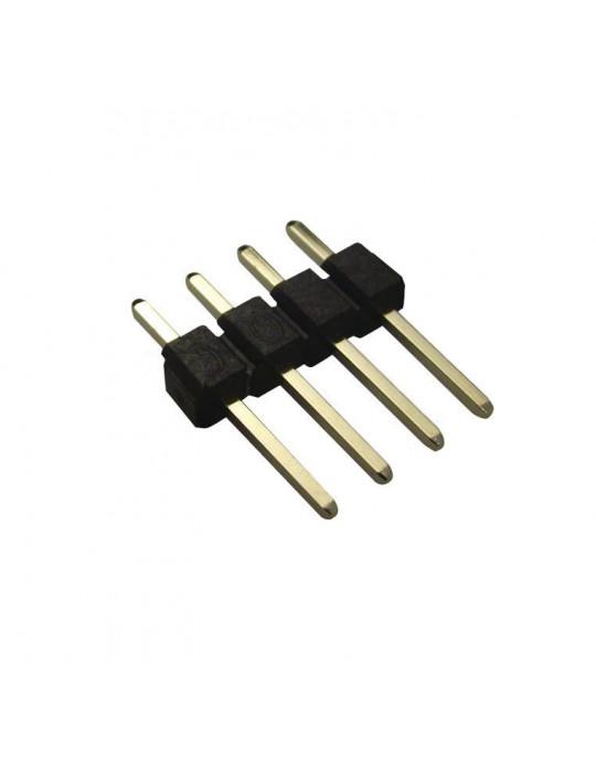 Connecteurs - Connecteur DuPont 4 broches mâle droit - lot de 10 - 1