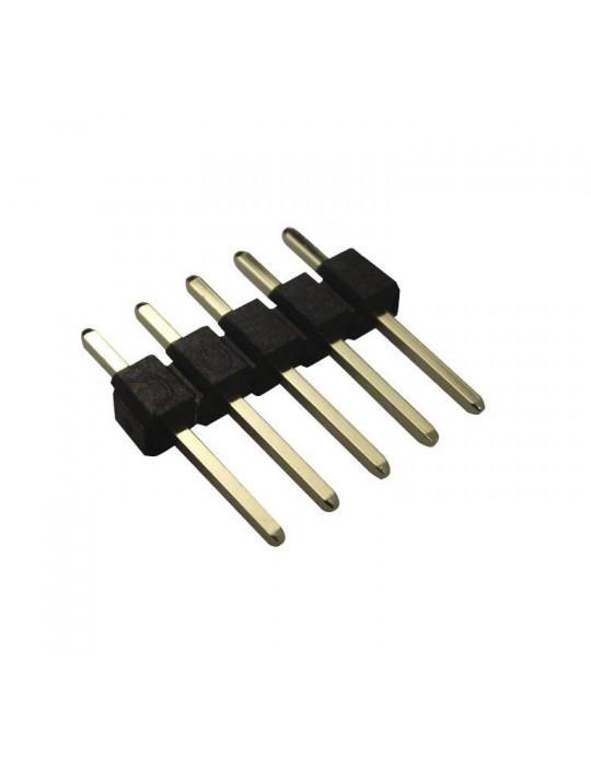 Connecteurs - Connecteur DuPont 5 broches mâle droit - lot de 10 - 1