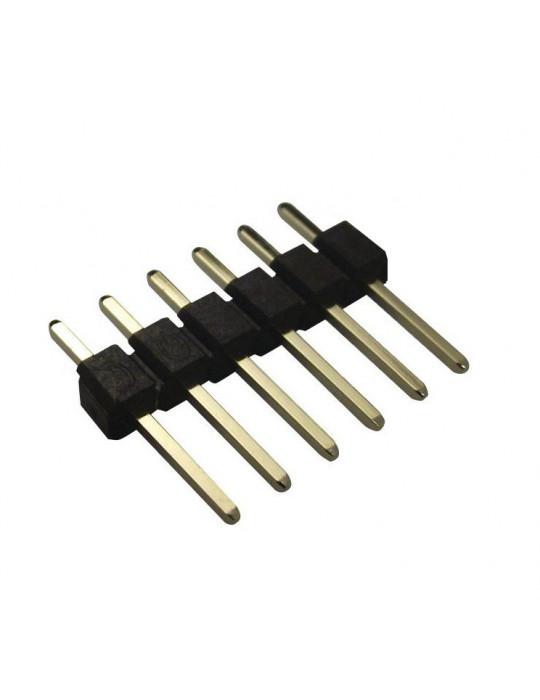 Connecteurs - Connecteur DuPont 6 broches mâle droit - lot de 10 - 1