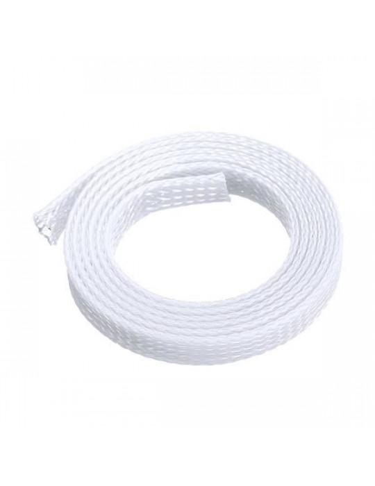 Gaines tressées - Gaine extensible diamètre 12 mm blanc - au mètre - 3