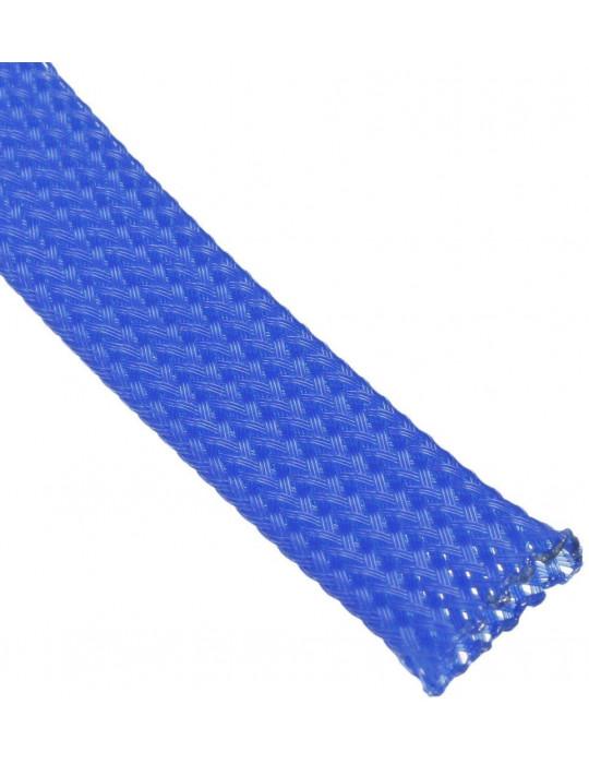 Gaines tressées - Gaine extensible diamètre 12 mm bleu - au mètre - 1