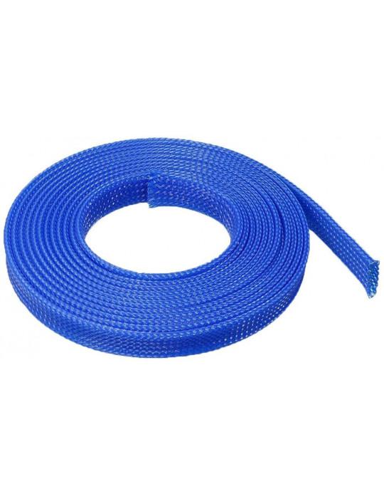 Gaines tressées - Gaine extensible diamètre 8 mm bleu - au mètre - 2