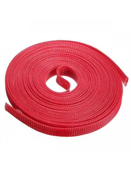Gaines tressées - Gaine extensible diamètre 12 mm rouge - au mètre - 2