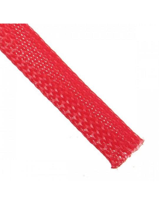 Gaines tressées - Gaine extensible diamètre 8 mm rouge - au mètre - 1
