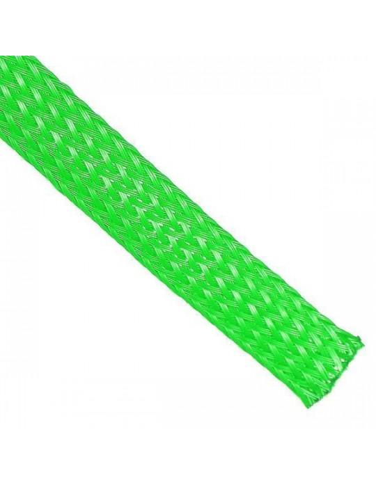 Gaines tressées - Gaine extensible diamètre 12 mm vert - au mètre - 1