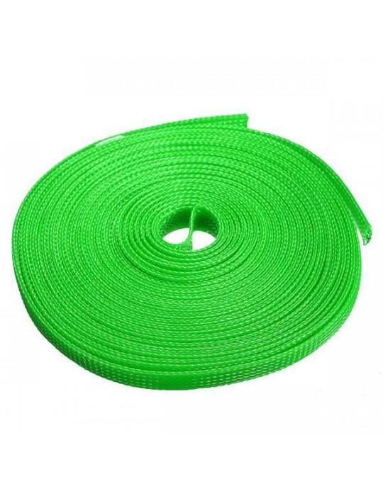 Gaines tressées - Gaine extensible diamètre 12 mm vert - au mètre - 2