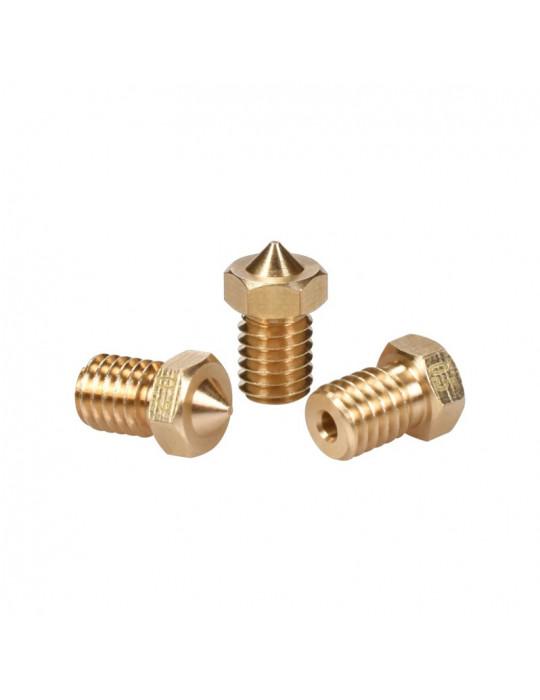 Buses - Buse laiton type E3D  diamètre 0.6mm pour filament 1.75mm - 1