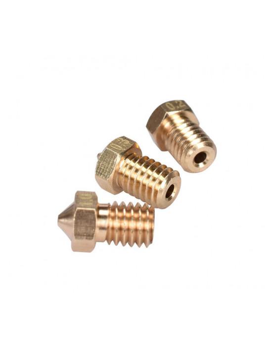 Buses - Buse laiton type E3D  diamètre 0.8mm pour filament 1.75mm - 3
