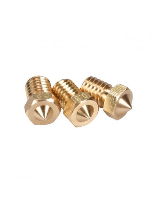 Buses - Buse laiton type E3D  diamètre 0.8mm pour filament 1.75mm - 2