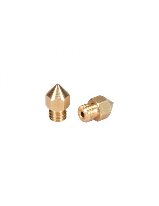 Buses - Buse laiton type MK8 diamètre 0.3mm pour filament 1.75mm - 2