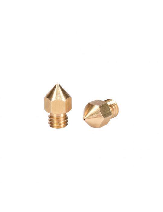 Buses - Buse laiton type MK8 diamètre 0.6mm pour filament 1.75mm - 1