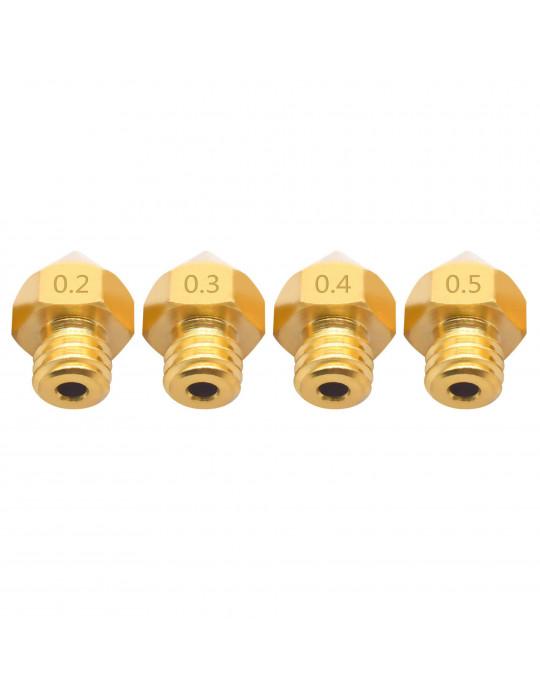 Buses - Buse laiton type MK8 grande capacité diamètre 0.4mm pour filament 1.75mm - 3