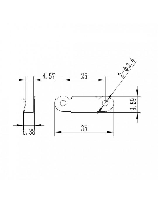 Plateaux chauffants - Clips de maintient pour vitre ou buildtack - lot de 4 - 4