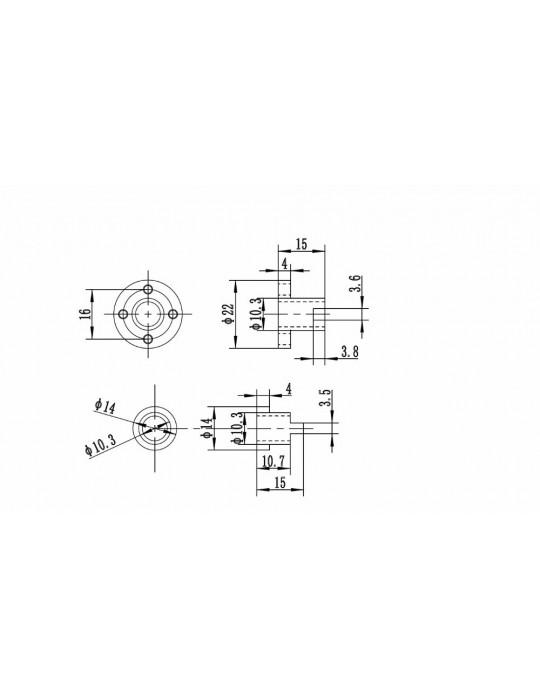 Noix - Noix anti-backlash T8 laiton - 5