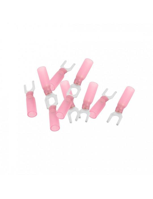 Connecteurs - Cosse à fourche M4 pour câbles 22-18 AWG - lot de 10 - 1