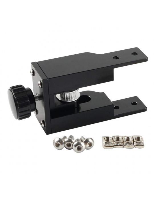 Accessoires - Tendeur de courroie aluminium profilé 2040 - axe Y - noir - 3