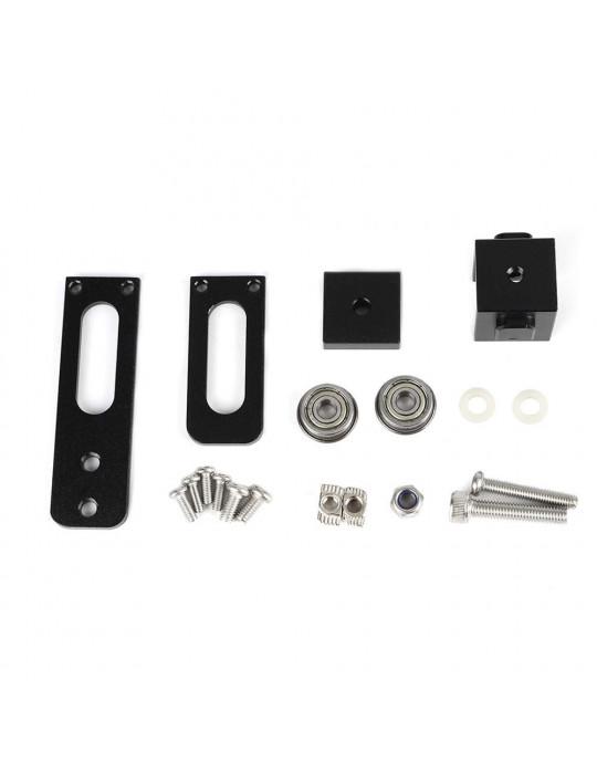 Accessoires - Tendeur de courroie aluminium profilé 2020 - axe X - noir - 6