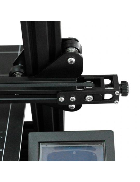 Accessoires - Tendeur de courroie aluminium profilé 2020 - axe X - noir - 4
