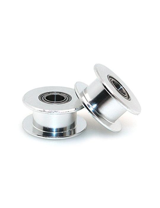 Poulies / Pignons - Poulie libre tendeur CompoZan HQ GT2 6mm-4mm sans dent - 1