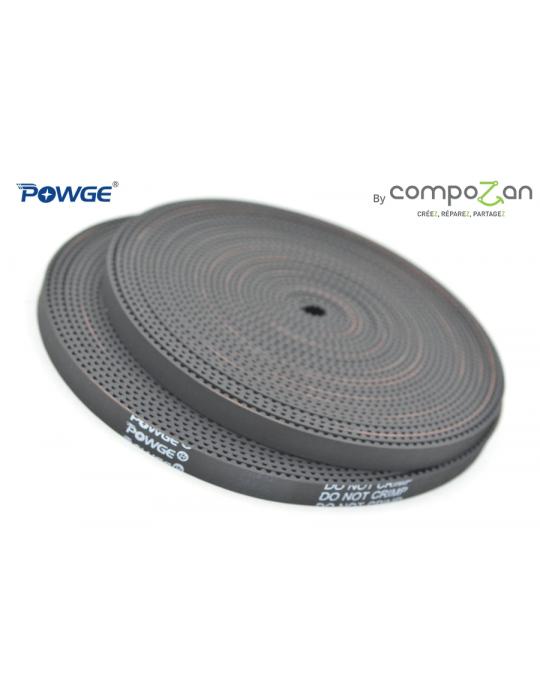 Courroies - Courroie ouverte GT2 6mm fibre de verre HQ Powge by CompoZan - 1