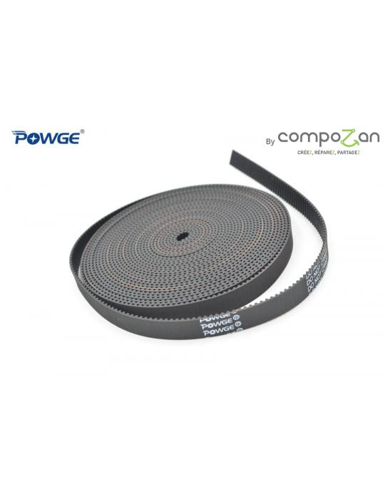 Courroies - Courroie ouverte GT2 6mm fibre de verre HQ Powge by CompoZan - 2