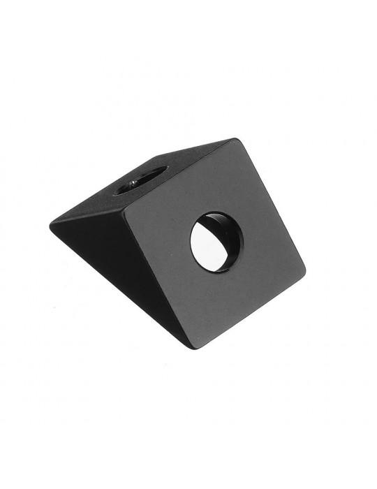 Géométrie - Equerre aluminium pour profilés V/T-slot 2020 - noir - 3
