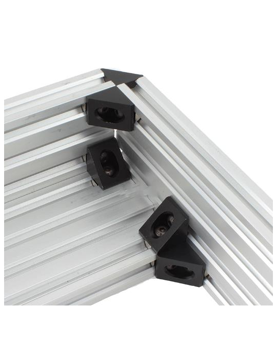 Géométrie - Equerre aluminium pour profilés V/T-slot 2020 - noir - 9