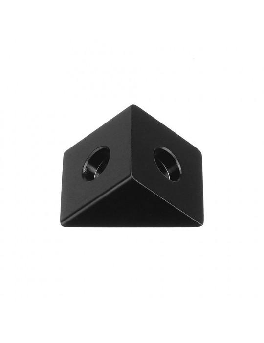 Géométrie - Equerre aluminium pour profilés V/T-slot 2020 - noir - 4