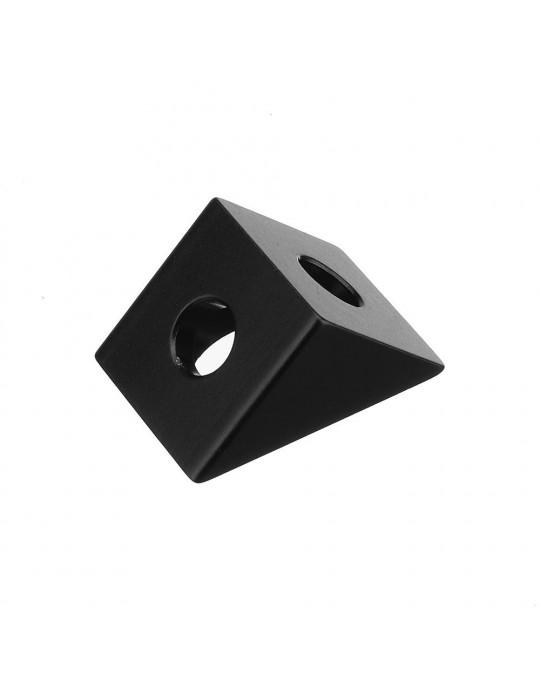 Géométrie - Equerre aluminium pour profilés V/T-slot 2020 - noir - 5