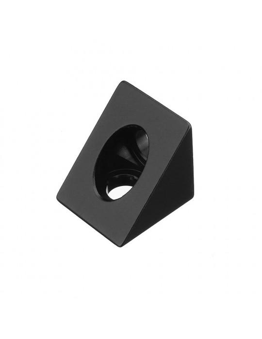 Géométrie - Equerre aluminium pour profilés V/T-slot 2020 - noir - 1
