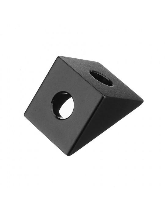 Géométrie - Equerre aluminium pour profilés V/T-slot 2020 - noir - 6