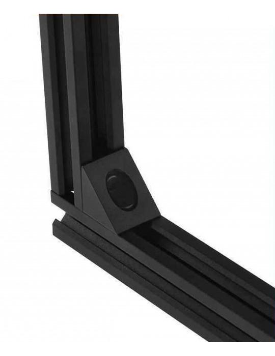 Géométrie - Equerre aluminium pour profilés V/T-slot 2020 - noir - 8