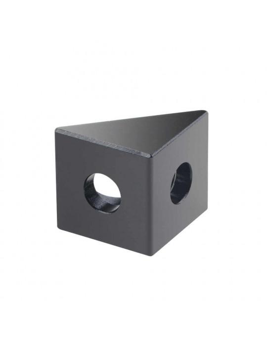 Géométrie - Equerre aluminium pour profilés V/T-slot 2020 - noir - 7
