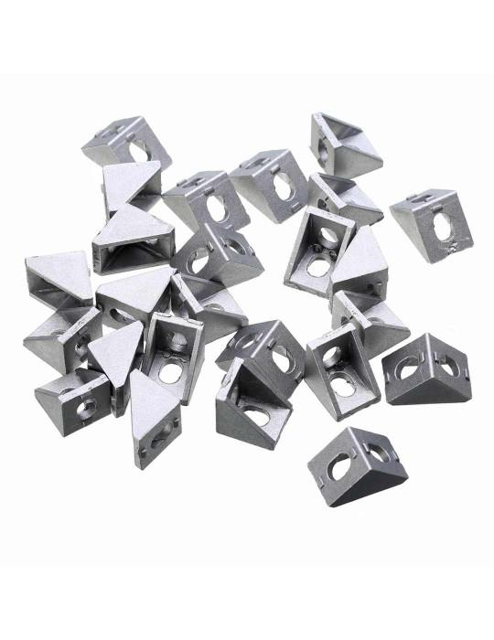 Géométrie - Equerre aluminium pour profilés V/T-slot 2020 - Silver (argent) - 2