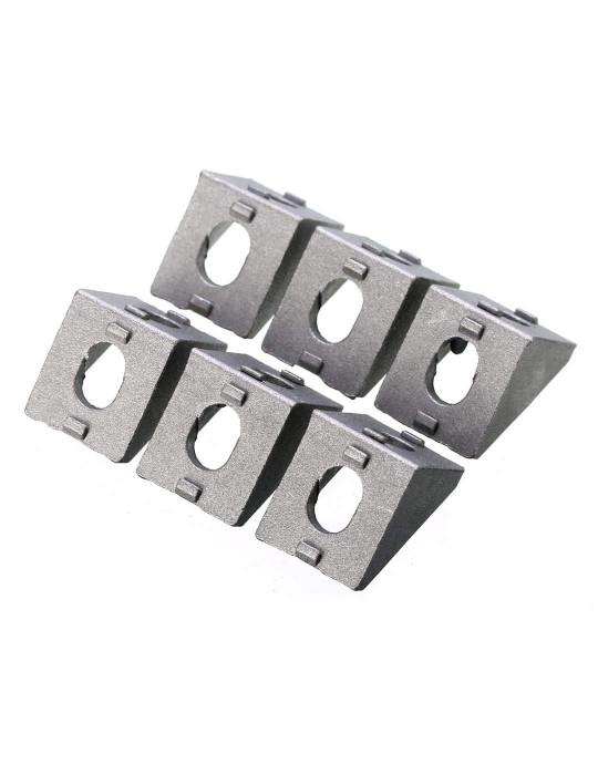 Géométrie - Equerre aluminium pour profilés V/T-slot 2020 - Silver (argent) - 3