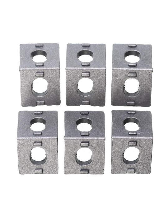 Géométrie - Equerre aluminium pour profilés V/T-slot 2020 - Silver (argent) - 4
