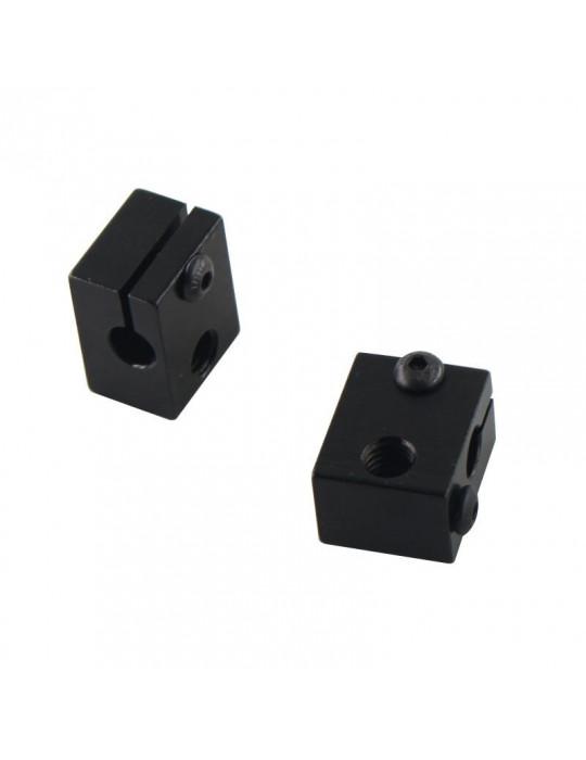 Blocs de chauffe - Corps bloc de chauffe en aluminium E3D V6 - noir - 2
