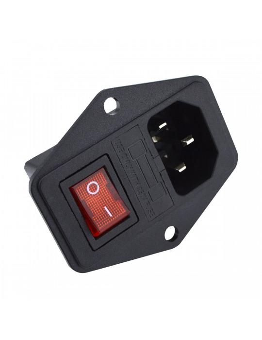 Contrôles - Interrupteur de puissance IEC320 avec fusible 250V - 10A - 1