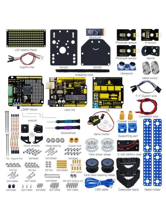 Kits DIY - Kit Robot Tank intelligent - Éducatif - 3