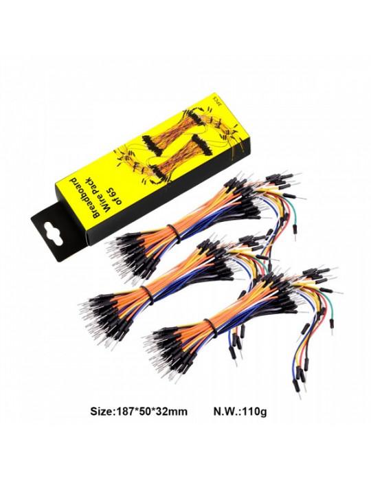 Câbles - Câbles jumpers pour carte de prototypage - 3x65 unités - 1