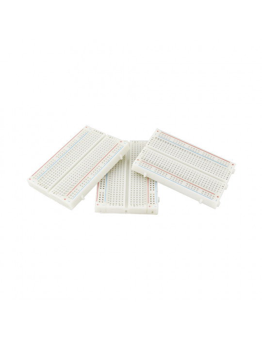 Electronique - Lot de 3 cartes de prototypage breadbord - 400 points - 3