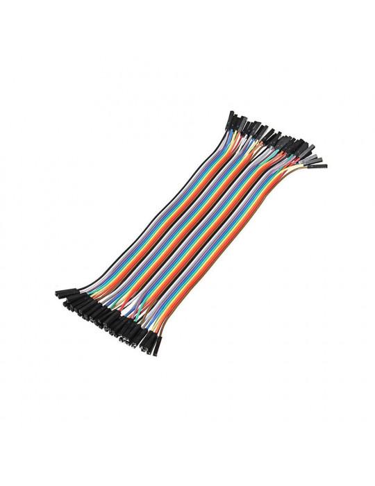 Connectiques / Câblages - Rallonge de câble GPIO Femelle / Femelle - 20 cm - 1