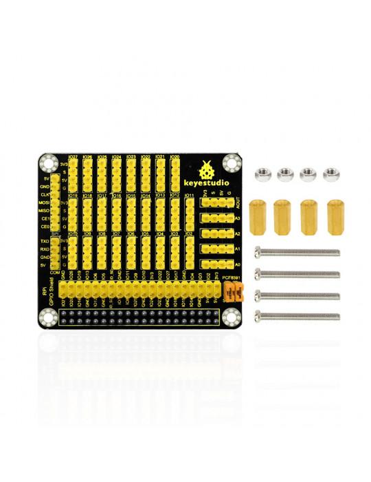Modules - Hat GPIO avec convertisseur AD/DA - Raspberry Pi modèle B - 4