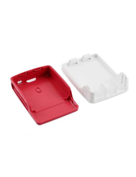 Boitiers - Boîtier officiel Raspberry Pi 4 blanc et rouge - 5