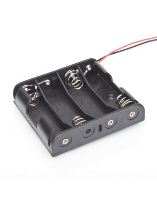 Electronique - Support de piles 4 x AA - 1