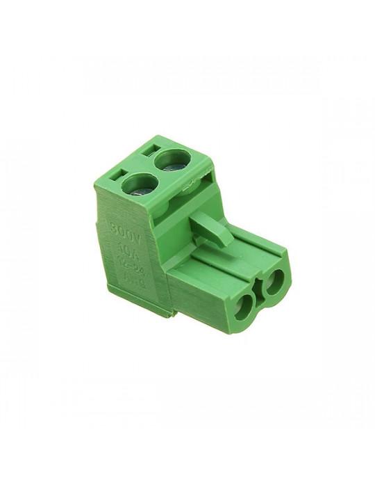 Electronique - Connecteur 2EDC mâle 2 bornes - pas de 5.08mm - 4