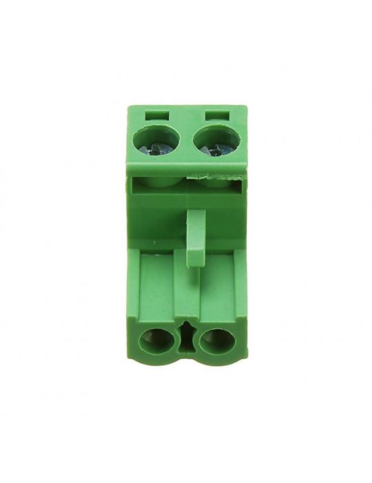 Electronique - Connecteur 2EDC mâle 2 bornes - pas de 5.08mm - 3