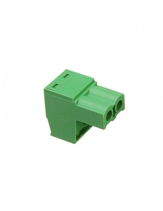 Electronique - Connecteur 2EDC mâle 2 bornes - pas de 5.08mm - 2