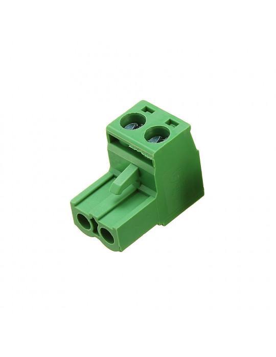 Electronique - Connecteur 2EDC mâle 2 bornes - pas de 5.08mm - 5