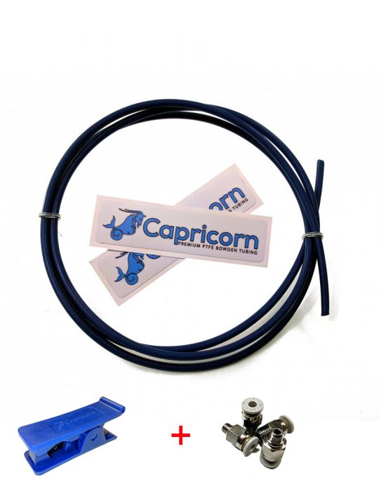 Tubes PTFE - Capricorn PTFE original XS 1,75mm - KIT Complet Cutter et Pneufits 1m - 1